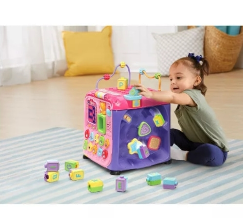 VTech Ultimate Alphabet Activity Cube - Pink
