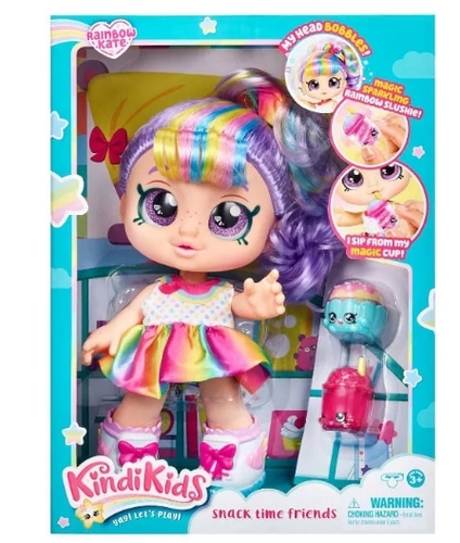 Kindi Kids Snack Time Friends Doll - Rainbow Kate 킨디키즈 레인보우 케이트