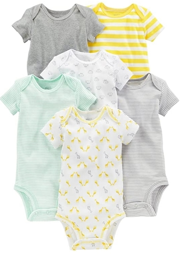 Carter's Baby 6-Pack Short-Sleeve Bodysuit