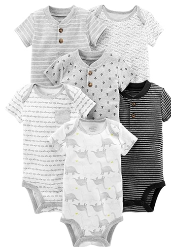 Carter's Baby Boys' 6-Pack Short-Sleeve Bodysuit