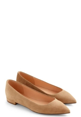 J.Crew Pointed-toe flats in suede- 바로출고