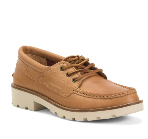 SPERRY Lug Sole Leather Moccasins