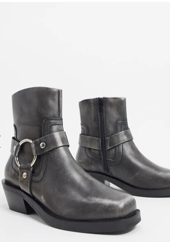 ASOS DESIGN leather boots